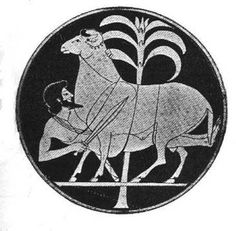 Odysseus Escapes from the Cyclops' cave.