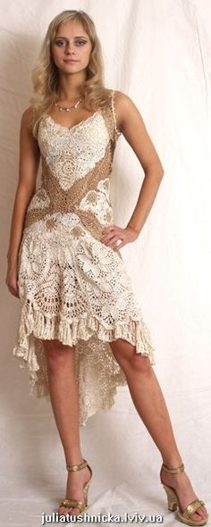 More vintage style lacy crochet dresses  Gorgeous!