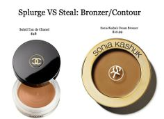 This post saved me $40!! I have been wanted the very exclusive Chanel cream bronzer for a year. Splurge Vs Steal: Bronzer/Contour #Makeup #Beauty #Contour #HAC #Dupe #Chanel #SoniaKashuk