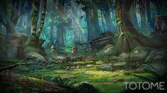 fantasy landscape totome forest
