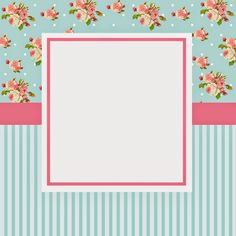 Baby shower ideas invitaciones shabby chic 49 new ideas Printable Labels, Printable Paper, Printables, Shabby Chic, Diy And Crafts, Paper Crafts, Cute Frames, Frame Background, Vintage Flowers