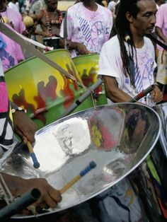 playing steelbandThe Steelpan is the national instrument of Trinidad and Tobago. Panorama is a national steelpan competition in both islands and happens January