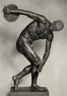"""Discobolus"" ~ ancient Greek sculptor Myron - Bronze"