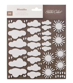 Mistable Fabric Sticker Shapes Clouds and SunMistable Fabric Sticker Shapes Clouds and Sun,