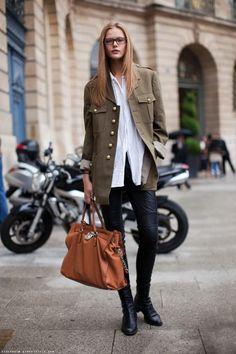 Style inspo: oversized military jacket