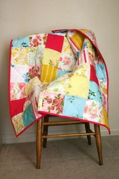 quilt from vintage sheets/pillowcases by sondra