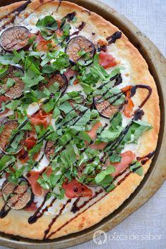Pizza de higos y jamón serrano www.pizcadesabor.com