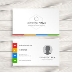 White Business Card Free Vector
