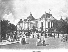 Exposition Universelle Paris 1900 - Le petit palais l'un des rares à toujours exister.
