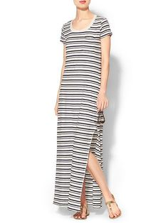Pin for Later: Diese 11 Kleider aus Piperlimes Frühlings-Sale sind ein Muss Splendid Short-Sleeved Maxi Kleid Splendid Short Sleeve Striped Maxi Dress ($138)