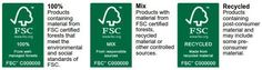 What do the different FSC Certification Logos mean and how do I choose which to buy? Logos Meaning, Paper Suppliers, Recycling Process, Social Policy, Forest Stewardship Council, Tropical Forest, Sustainable Living, 12 Months