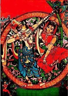 Bapu Painting Rathi Manmadha Sri Rama, Beautiful Rangoli Designs, Indian Paintings, Lord Krishna, Old Art, Gods And Goddesses, Hinduism, Indian Art, Cute Drawings