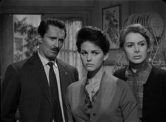 """Eleonora Rossi Drago con Pietro Germi e Claudia Cardinale nel film """"Un maledetto imbroglio"""" (1959)"""