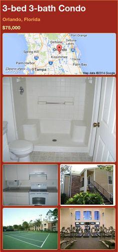 3-bed 3-bath Condo in Orlando, Florida ►$75,000 #PropertyForSale #RealEstate #Florida http://florida-magic.com/properties/75102-condo-for-sale-in-orlando-florida-with-3-bedroom-3-bathroom