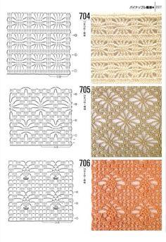 Tantissimi punti uncinetto con schema - Crochet stitch with patterns