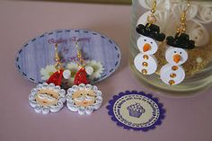 Handmade Quilling Christmas earring