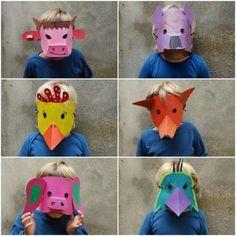 Maschere di Carnevale per bambini originali - Animali fai da te