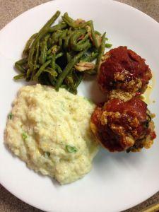 Individual Meatloaf Balls (S) Trim Healthy Mama dinner- mrs. criddle's kitchen.