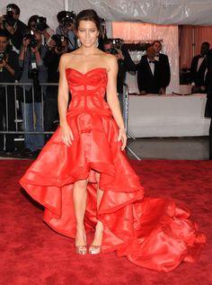 jessica biel red dress - gorgeous!