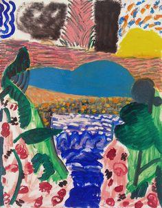 Shara Hughes | Lake Walk (2014) | Artsy