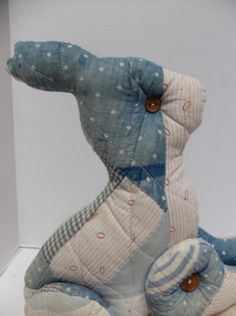Vintage quilted bunny rabbit
