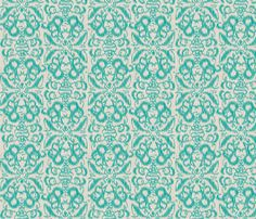 Ikat Damask fabric by cottageindustrialist on Spoonflower - custom fabric