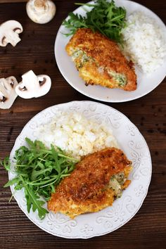 Queso, Risotto, Rice, Cooking Recipes, Dinner, Ethnic Recipes, Food, Manicure, Stuffed Chicken