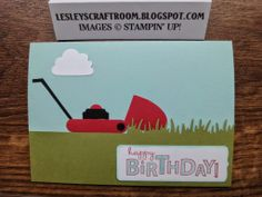 Lesley's Craft Room: Punch Art Lawn Mower