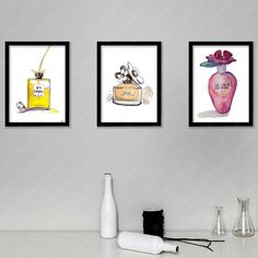 Find More Painting & Calligraphy Information about Perfume Wall Art Canvas Print , Perfume Bottle Colorful Fashion illustration Prints for girls bedroom home bathroom art decor,High Quality perfume edge,China perfume retail Suppliers, Cheap perfumed soap from Aooins Decoration Store on Aliexpress.com