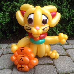 Day 227: Maneki-Neko (Lucky #Cat) #BalloonAnimals