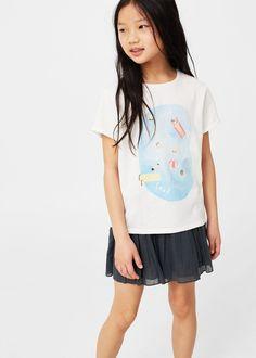 Camiseta algodón estampada - Niños | MANGO Kids España