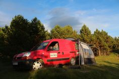 Renault Kangoo Mini Camper with rear tent option. #camping