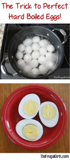 The Trick to Perfect Hard Boiled Eggs! ~ from TheFrugalGirls.com {no more rings around your egg!} #thefrugalgirls