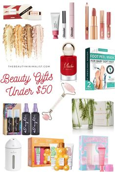 Beauty Gift Ideas Under $50 via The Beauty Minimalist Best Beauty Tips, My Beauty, Beauty Hacks, Glam Makeup Look, Makeup Set, Collagen Lips, Beauty Products Gifts, Beauty Bakerie, Makeup Is Life
