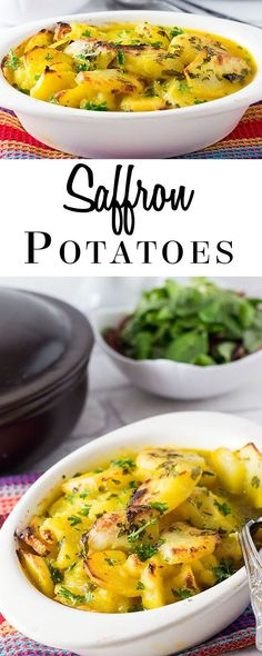 Serve your guests something so much better than just mashed potatoes with this tasty recipe for Easy Saffron Potato Bake. Comfort food has never tasted so good!