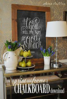 How to frame a chalkboard.  Cute! #frame