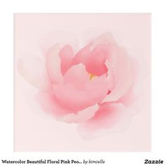 Watercolor Beautiful Floral Pink Peony Painting Acrylic Wall Art