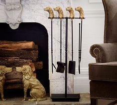 Ken Fulk Retriever Fireplace Tool Set #potterybarn