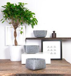 Decorative bowls Set of 3  Home decor Modern vases Fruit by POPEQ