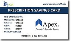 Apex Prescription Discount Card  Apex Capital offers the Apex Prescription Savings Card, a free prescription discount card that provides up to 87% savings on generic medications. It's available for anyone to use with no activation or expiration date, so friends and family can save big too. Check out our blog to find out how!