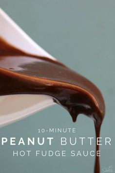 This Peanut Butter Hot Fudge Sauce is literally so amazing, incredible, indescribable…seriously I can't think of any words to tell you just how good it is.
