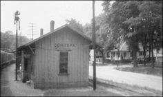 Cordova Al.. Train Depot. Today only the cement platform remains