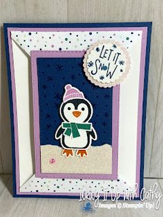 Love Cards, Polar Bear, Penguins, You And I, Stampin Up, Card Making, Paper Crafts, Projects, Log Projects