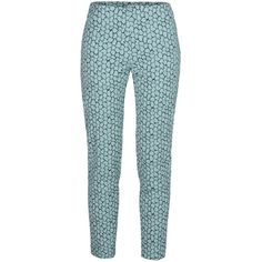 Alberta Ferretti Pant (310 CAD) ❤ liked on Polyvore featuring pants, pant, light green, skirts & pants, blue pants, zip pants, jacquard pants, alberta ferretti and alberta ferretti pants