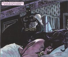 Batman watching over Selina Kyle