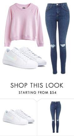 """Been there"" by nikka163 ❤ liked on Polyvore featuring MTWTFSS Weekday, NIKE and Topshop"
