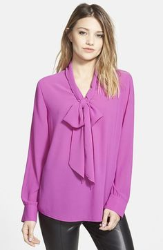 GLAMOROUS+Bow+Front+Blouse+available+at+#Nordstrom