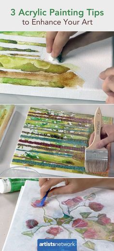 These 3 quick and easy acrylic painting tips will enhance your art.  #acrylicpainting #arttips