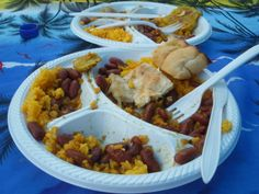 Food truck finds: chicken and beans with rice