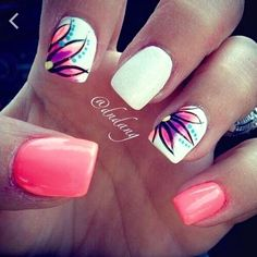 Acrylic nail design for summer